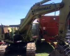Excavadora Hidromac H7 Sobre Horugas. Motor Perkings