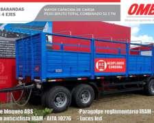 Acoplado Ombu 4 Ejes - Baranda Volcable (52.5 TN)