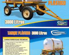 Acoplado Tanque de Plastico AT 1500/3500 - Grosspal