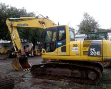 Excavadora Komatsu Pc200-8, AÑO 2007