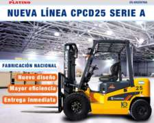 Autoelevador Liugong Diesel 2,5 Tn Triple Torre 24 Cheques