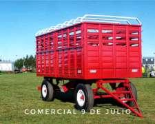 Acoplado Vaquero Jaula Tripleuso Conese - 9 de Julio
