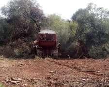 Se Realizan Trabajos De Desmonte Con Topadora En Chaco.