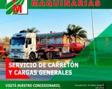 Servicio de Transporte de Maquinarias a Todo el Pais