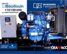 Grupo Electrógeno Bounous 115/100 Kva, Cabina Insonorizada.