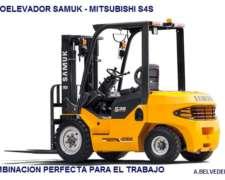 Autoelevador Samuk-mitsubishi Diesel 3.3 0km 2017