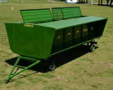 Comedero para Hacienda Transportable de 6 Mts. Agromaq