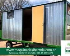 Casilla Economica con Baño 2 Camas Maquinarias Ibarrola