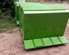 Comederos para Cerdos Capac. 400 KG.