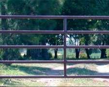 Tranquera Para Montar Sobre Postes De Madera