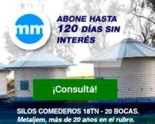 Silos Comederos - 18tn, 20 Bocas - Metaljem