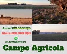 100 Has Agrícolas sin Mejoras a 2000 Usd/ha