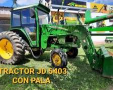 Jhon Deere Tractor 5403 con Pala Hidráulica