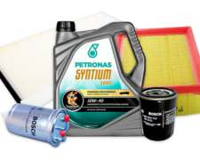 Kit Filtros + Aceite Syntium Ford Courier 1.8d Desde 1998