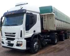Vendo Iveco Cursor 330 2013 con Batea Herman 2014 Impecable