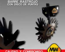 Barre Rastrojo Fijo con Disco de Punta