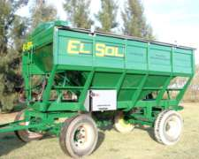 Tolva de Semilla y Fertilizante de 14tn el SOL sin Chimango