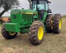 Tractor John Deere 4960, año 1996-220hp