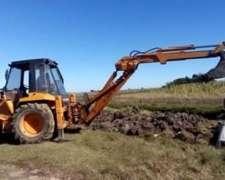 Pala Retro Case 580 G 4X4 Brazo Extensible -balde Almeja-