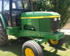 Tractor Jhon Deere 6500. año 2006.