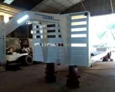 Carreton Tres Ejes Duales 750x16,cuello De Cisne.