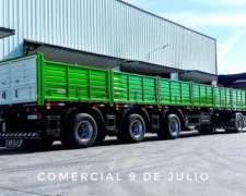 Semirremolque Camión Barandas Volcables 1+1+1 Pbtc 55.5t