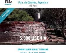 Campo a la Venta Suco 50 Hectáreas Mcnegocios 3582440235