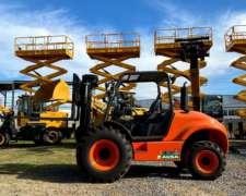 Autoelevador 4X4 3500kg Ausa Todo Terreno Triple Torre