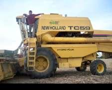 Cosechadora New Holland Tc59 Muy Buen Estado