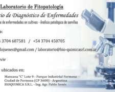 Laboratorio De Fitopatología. Servicio De Diagnóstico
