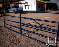 Tranquera Puerta Caño 2 1,20m X 3,50m Corrales Agraso