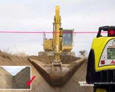 Nivelación Láser, Receptor para Excavadora