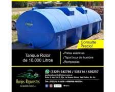 Tanque de 10.000 Rotor Horizontal Plastico
