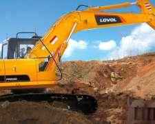 Excavadora Lovol FR220 22 TN Motor Cummins Financio 70%