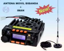 Radio Movil VHF UHF Bibanda + Kit Antena Completo