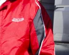 Campera Abrigo De Tracker Forrada Con Matelasse Combinada
