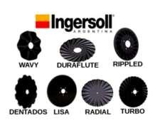 Buco Ingersoll Cuchillas Discos Turbos, Tapadoras