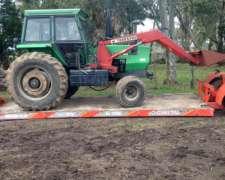 Tractor Deutz AX100 con Pala