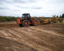 Tractor Zanello con Palas de Arrastre Grosspal de 3 M3