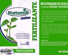 Fertilizante Orgánico 25 Kgs Diatomid Mineral Natural