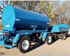 Acoplado Tanque Cisterna de Chapa para 10000 Lts.