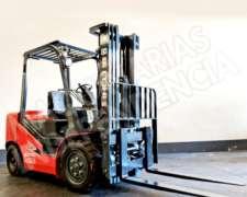 Autoelevador Heli 3500 Kg Diesel Isuzu CPCD35 Desplazador
