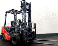 Autoelevador Heli 2500 Kg Diesel CPCD25 Duales Desplazador