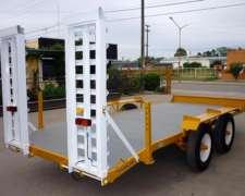 Acoplado Carreton Trailer Auxilio Vehicular Playo Carga 3tn