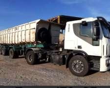 Vendo Iveco Tector 170e25t (2013) + Batea Montebras 2+1 (08)