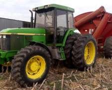 Tractor John Deere 7500, año 1998