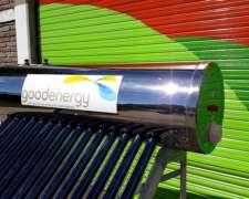 Termotanque Solar 185l Acero Inoxi (con Resistencia y Ánodo)