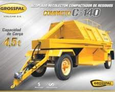Acoplado Recolector Compactador de Basura Compacto C-140