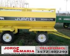 Acoplado Tanque Juarez de 3000 Lts, Nuevo