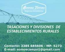 Tasaciones y Divisiones de Campos